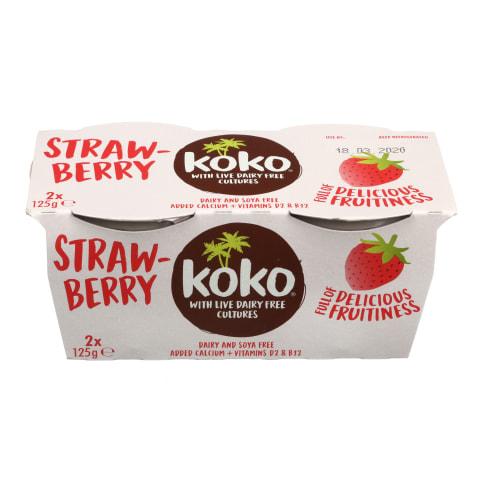 Braškių skonio desertas KOKO, 2 X 125 g