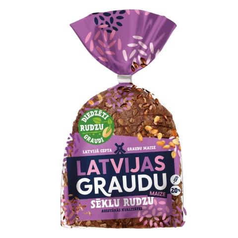 Rudzu maize Latvijas graudu ar sēk. 390g