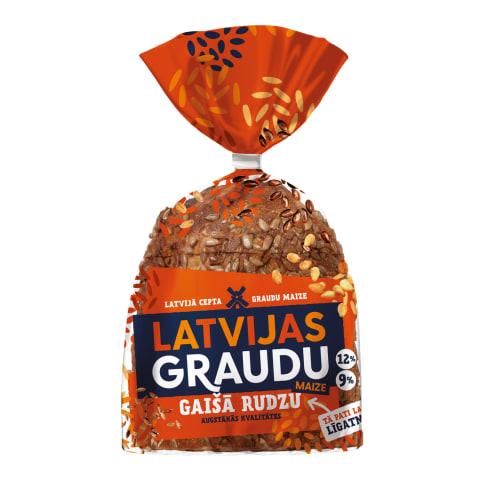 Gaišo rudzu maize ar sēklām 390g