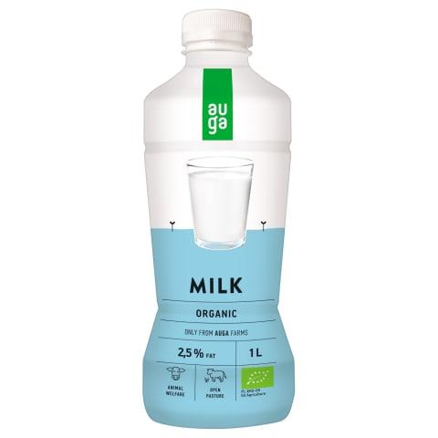 Ekologiškas pienas AUGA, 2,5 % rieb., 1 l