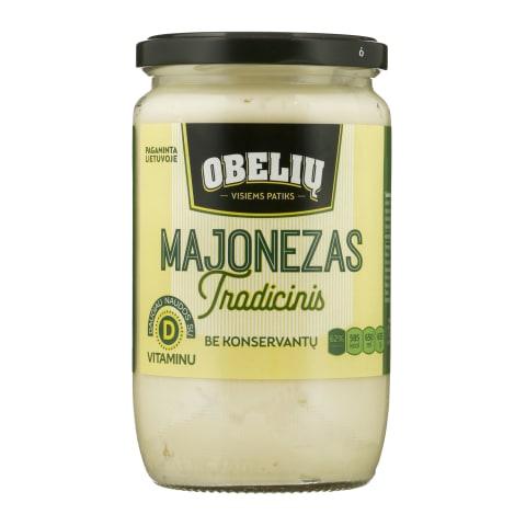 OBELIŲ majonezas be konser., 62% rieb., 650ml