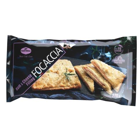 Uzkoda Focaccia ar šķiņķi un sieru 270g