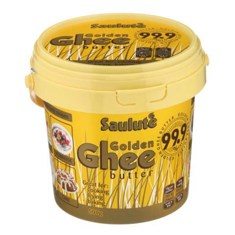 Lydytas sviest.SAULUTĖ Golden Ghee,99,9%,500g