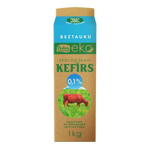 Kefīrs Baltais beztauku EKO 0,1% 1kg