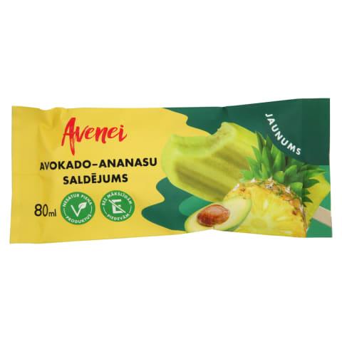 Saldējums Avenei avokado - ananāsu 80ml/80g
