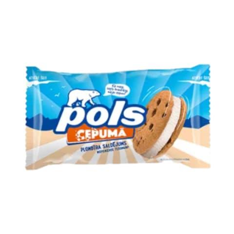 Saldējums Pols vaniļas ar cepumiem 140ml/75g
