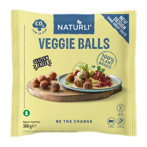 Veganipallid sojavalgust Naturli 300g