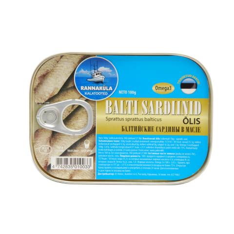 Balti sardiinid õlis 100g