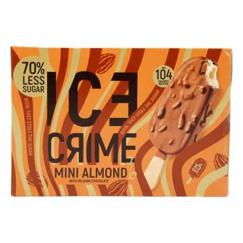 Saldējums Ice Crime ar mandelēm 5x50ml/5x38g