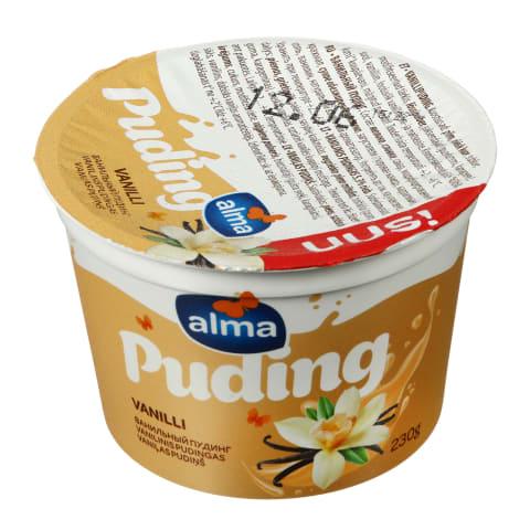 Vanilinis pudingas ALMA, 5,3 % rieb., 230 g