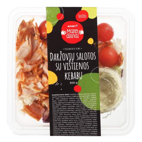 Daržovių salotos su vištienos kebabu, 340 g