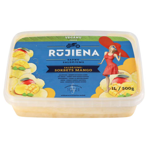 Saldēj. - sorbets Rūjiena ar mango g. 1L/500g