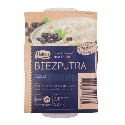 Biezputra Baltais rīsu 300g