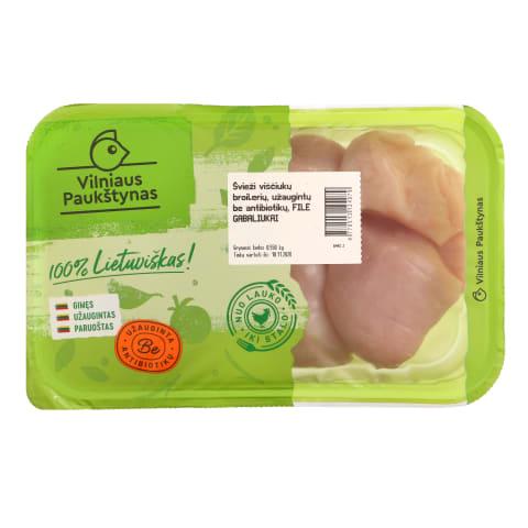 Viščiukų broilerių filė gab.antibiotikų ,550g
