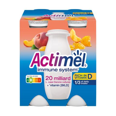 Persikų sk. jogurtinis gėrimas ACTIMEL,4x100g
