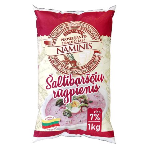 ROKIŠKIO NAMINIS šaltibaršč. rūgpienis,7%,1kg