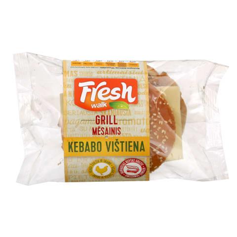 Mėsainis su kebabo vištiena FRESH WALK,150g