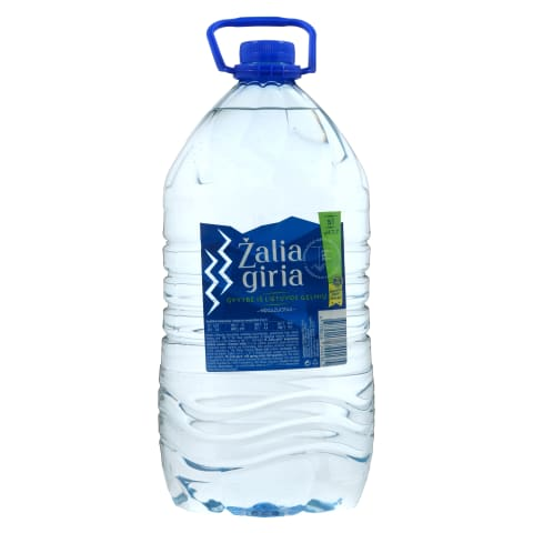 Negazuotas šaltinio vanduo ŽALIA GIRIA, 5l