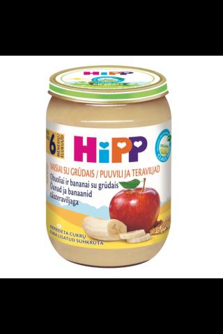 Biezenis Hipp bio banānu, ābolu, 190g