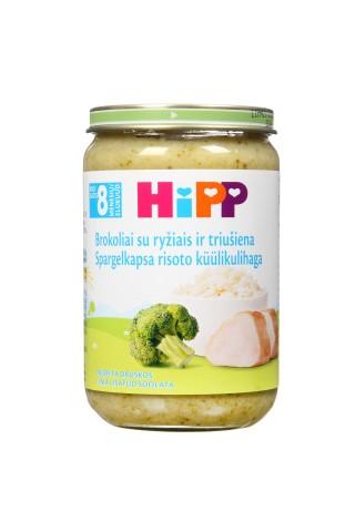 Biezenis Hipp rīsi ar brokoļiem un truša gaļu no 8 mēnešiem 220g