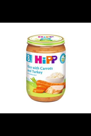 Biezenis Hipp bio ar tītara gaļu, rīsiem, burkāniem, no 8mēn., 220g