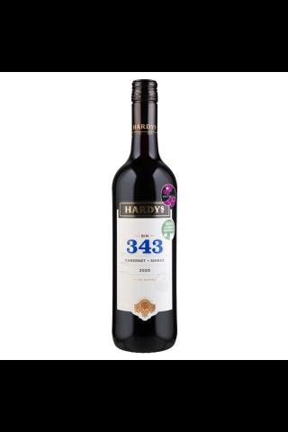 Sarkanvīns Hardys Bin 343 cabernet shiraz 13%0.75l