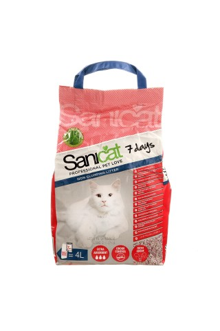 Kaķu smiltis Sanicat 7 days, 4l