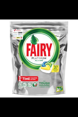 Automatinių indaplovių kapsulės Fairy All in 1 Platinum Lemon, 37 vnt