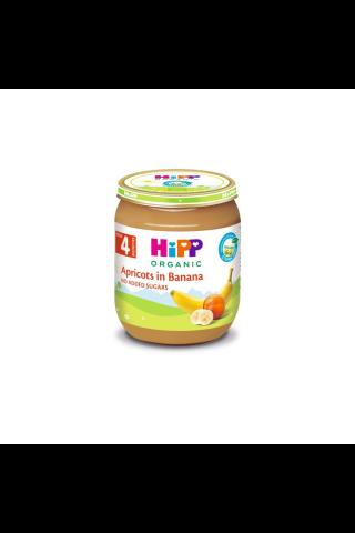 Biezenis Hipp bio ar aprikozēm un banāniem no 4 mēnešiem 125g