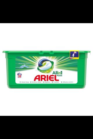 Veļas mazgāšanas kapsulas Ariel spring 28gab