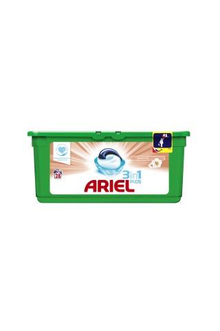 Veļas mazgāšanas kapsulas Ariel sensitive 28gab