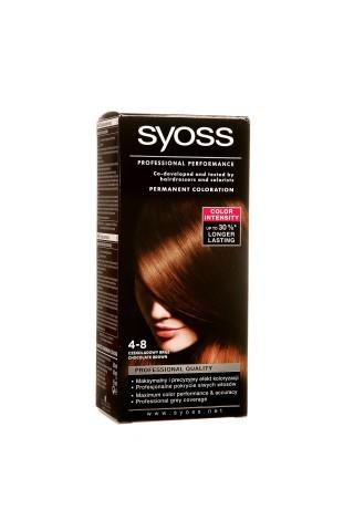Matu krāsa Syoss color 4-8 šokolādes brūns