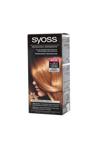Matu krāsa Syoss color 8-7 medus blonds