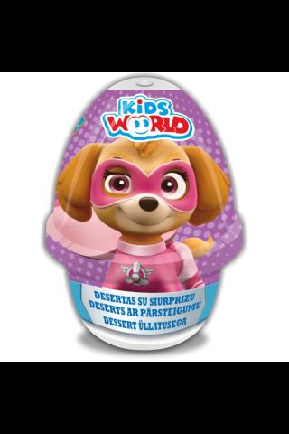 Deserts šokolādes un vaniļas Kid`s world ar pārsteigumu 70g