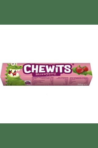 Braškių skonio kramtomi saldainiai CHEWITS, 29g