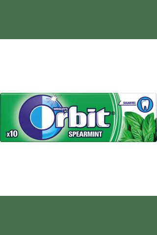 Becukrė mėtų skonio kramtomoji guma su saldikliais ORBIT SPEARMINT, 10 vnt, 14 g