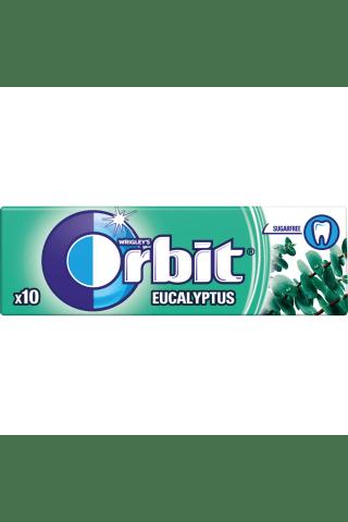 Becukrė mentolio ir eukalipto skonio kramtomoji guma su saldikliais ORBIT, 10 vnt, 14 g