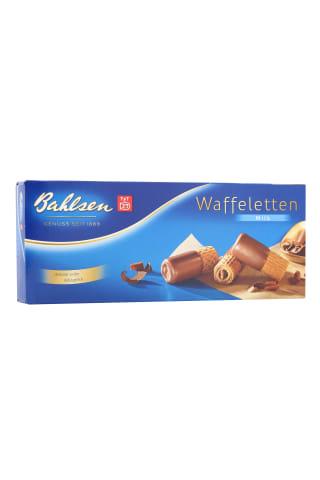 Vafliniai suktinukai dengti pieniniu šokoladu BAHLSEN waffeletten milk 100g
