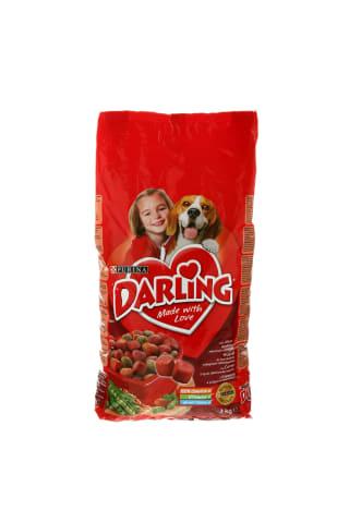 Sausas šunų ėdalas su mėsa ir pridėtomis rinktinėmis daržovėmis DARLING, 3 kg