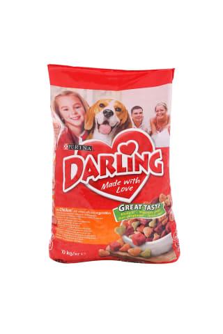 Sausas šunų ėdalas su paukštiena ir daržovėmis DARLING, 10 kg