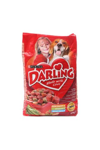 Sausas šunų ėdalas su mėsa ir daržovėmis DARLING, 10 kg