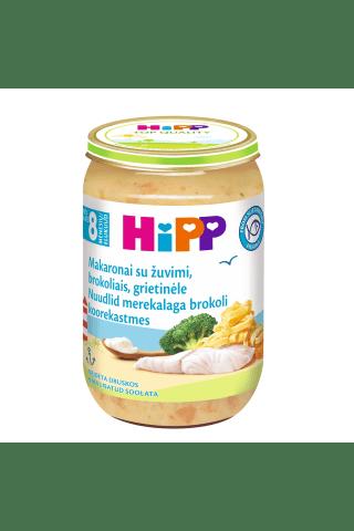 Nūdeles Hipp bio ar zivi, brokoļiem, no 8mēn., 220g