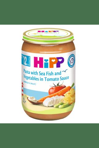 Jūros žuvis, makaronai ir brokoliai HIPP, nuo 12 mėn., 220 g