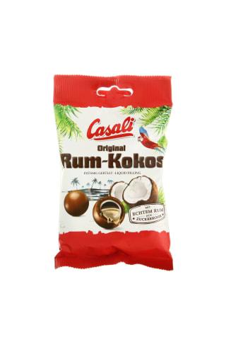 Kokosinis dražė su romo įdaru, šokoladiniu ir pieniško šokolado glaistais CASALI, 100 g