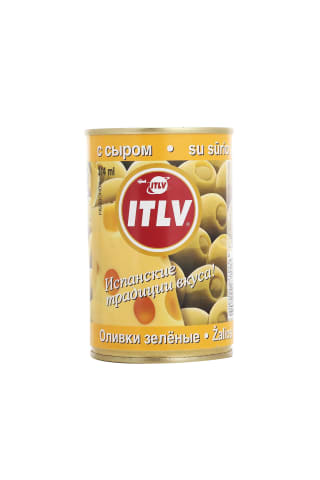 Zaļās olīvas ITLV ar sieru 314ml
