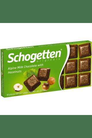 Šokoladas schogetten hazelnuts 100g