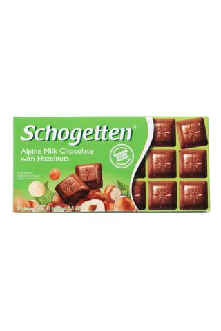 Šokolāde schogetten hazelnuts 100g