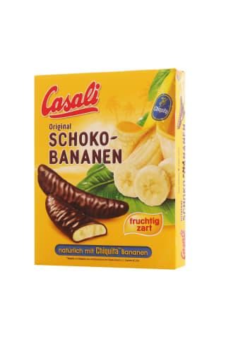 Bananiniai putėsiai šokolade casali, 150 g