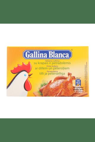 Buljons Galina Blanca vistas gaļai ar zaļumiem 8x10g