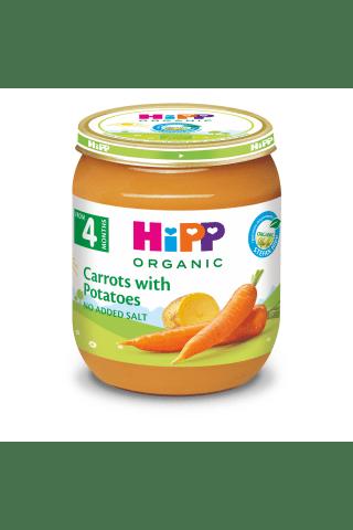 Ankstyvų morkų ir bulvių tyrelė HIPP, 4 mėn, 125 g